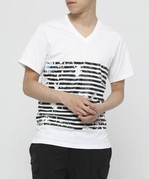 tシャツ Tシャツ フラワーボーダーVネックTシャツ|ZOZOTOWN PayPayモール店
