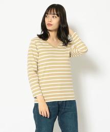 tシャツ Tシャツ Le Minor/ルミノア/ベーシックVネックボーダーカットソー -ENC BORDE/エンクボルデ-|ZOZOTOWN PayPayモール店