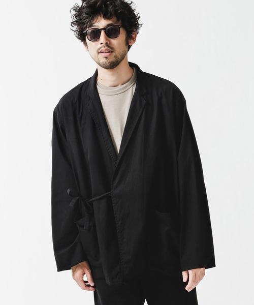 奉呈 アウター 京都紋付×極小宇宙 人気ブランド多数対象 作務衣ラペルジャケット