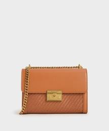 バッグ クラッチバッグ テクスチャード ボクシーチェーンストラップバッグ / Textured Boxy Chain Strap Bag|ZOZOTOWN PayPayモール店