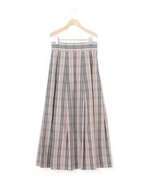スカート 【Scye】〈別注〉 マキシチェックスカート WOMEN|ZOZOTOWN PayPayモール店