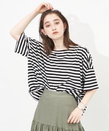 tシャツ Tシャツ ワイドシルエットボーダーTシャツ|ZOZOTOWN PayPayモール店