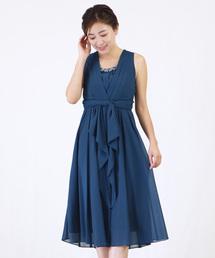 ドレス センター リボンの ミモレ丈 ドレス|ZOZOTOWN PayPayモール店
