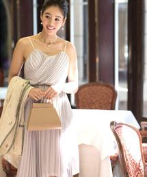 ドレス \東原亜希さん・大桑マイミさん着用/アシンメトリープリーツドレス|ZOZOTOWN PayPayモール店