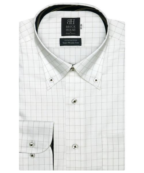 大好評です 在庫あり 形態安定ノーアイロン ボタンダウン 長袖ビジネスワイシャツ