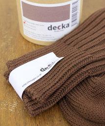 靴下 decka quality socks デカ クォリティソックス / Cased heavy weight plain socks ケースドヘビ|ZOZOTOWN PayPayモール店