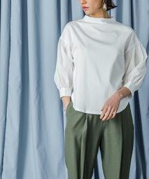 tシャツ Tシャツ ボトルネックシアーボリュームスリーブトップス(ボリュームスリーブ カットソー)|ZOZOTOWN PayPayモール店