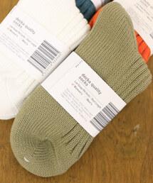 靴下 decka quality socks デカ クォリティソックス / Low Gauge Rib Socks/Short ローゲージリブソックス|ZOZOTOWN PayPayモール店