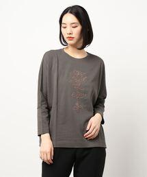 tシャツ Tシャツ RUBY ROSE REDモチーフ刺しゅうドルマンカットソー|ZOZOTOWN PayPayモール店