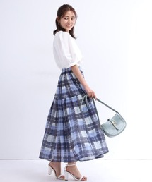 スカート シアーチェックプリーツスカート ZOZOTOWN PayPayモール店