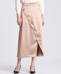 スカート 《Maglie par ef-de》フロントクロスサテンスカート ZOZOTOWN PayPayモール店
