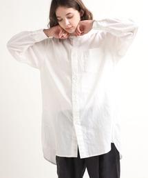 シャツ ブラウス B2582 ミリタリーノーカラーシャツ|ZOZOTOWN PayPayモール店