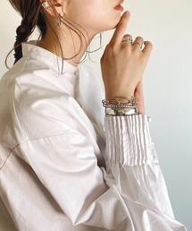 シャツ ブラウス WEARISTA RIKA - ピンタックドレスシャツ made in INTER FACTORY ZOZOTOWN PayPayモール店