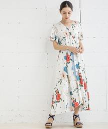 ワンピース 【STYLEBAR】2WAYオリジナル花柄ワンピース(ガウンワンピース)|ZOZOTOWN PayPayモール店