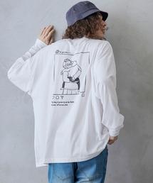 tシャツ Tシャツ ビッグシルエット イラストデザイン クルーネック長袖Tシャツ-2021SPRING-|ZOZOTOWN PayPayモール店