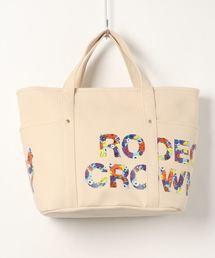 トートバッグ バッグ 【RODEO CROWNS/ロデオクラウンズ】 FLOWER PT TOTE L|ZOZOTOWN PayPayモール店