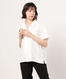 シャツ ブラウス エンブロイダリーオープンカラーシャツ|ZOZOTOWN PayPayモール店