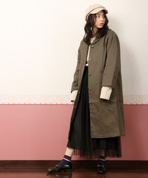 ステンカラーコート 【D*g*y】厚地コットンテーラードカラーコート womens ZOZOTOWN PayPayモール店