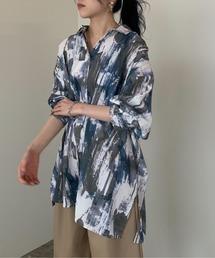 シャツ ブラウス 【PUBLUX/パブリュクス】オーバーサイズペイントアートシャツ|ZOZOTOWN PayPayモール店