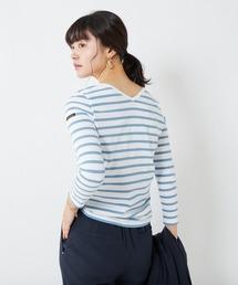 tシャツ Tシャツ 【Le minor】Basic V 前後2WAYボーダーロンT|ZOZOTOWN PayPayモール店
