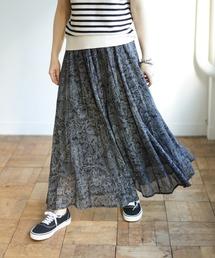 スカート フラワープリントパネルスカート|ZOZOTOWN PayPayモール店