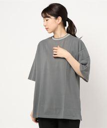 tシャツ Tシャツ 【Bl】鹿の子ライン入り刺繍クルーTシャツ|ZOZOTOWN PayPayモール店