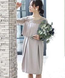 ドレス ミニ丈&袖ありフォーマルタイト大きいサイズ結婚式ワンピースドレス|ZOZOTOWN PayPayモール店