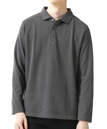 ポロシャツ :ピンヘッドジャガードポロシャツ 長袖 ZOZOTOWN PayPayモール店