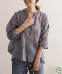シャツ ブラウス ラミースタンドカラーワイドシャツ|ZOZOTOWN PayPayモール店