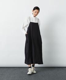 ワンピース ジャンパースカート リネンヘリンボンジャンパースカート|ZOZOTOWN PayPayモール店