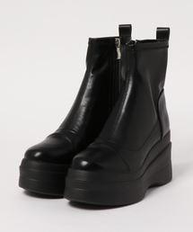 ブーツ 「YOSUKE/ヨースケ」厚底ストレッチショートブーツ ZOZOTOWN PayPayモール店