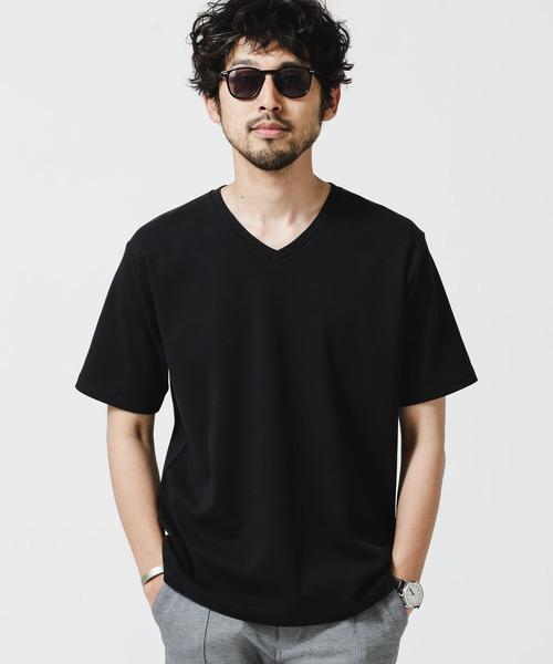 tシャツ [ギフト/プレゼント/ご褒美] 賜物 Tシャツ 《イヤな臭いを軽減》Anti Smell 半袖 VネックTシャツ