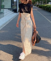 スカート Alstromeria Jacquard ハイウエストペンシルスカート|ZOZOTOWN PayPayモール店