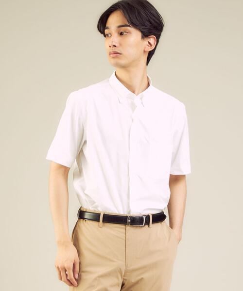 日本メーカー新品 機能 イージーアイロン 吸水速乾 いつでも送料無料 ストレッチ WTO ラッカン ユーティリティーボタンダウンシャツ