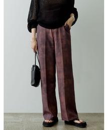 パンツ スラックス [低身長サイズ有]総柄センタープレススラックスパンツ|ZOZOTOWN PayPayモール店