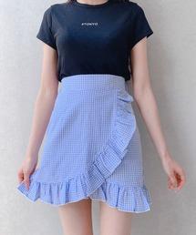 スカート ギンガムチェックフリルミニスカート|ZOZOTOWN PayPayモール店