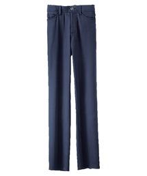 パンツ なめらか綿混スラブ美ストレートパンツ73丈|ZOZOTOWN PayPayモール店