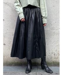 スカート フェイクレザーギャザースカート|ZOZOTOWN PayPayモール店