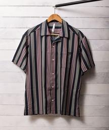 シャツ ブラウス ストライププリントオープンカラーシャツ|ZOZOTOWN PayPayモール店