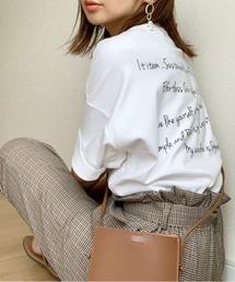 tシャツ Tシャツ WEARISTA maiko - オーバーサイズバッグメッセージプリントTee made in INTER FACTORY ZOZOTOWN PayPayモール店