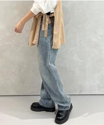 パンツ デニム ジーンズ 【XS〜XLサイズあり】ハイウエストストレートデニムパンツ|ZOZOTOWN PayPayモール店