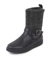 ブーツ MINNETONKA(ミネトンカ) / リブニットレザーブーツ スニーカーソール 18M06|ZOZOTOWN PayPayモール店