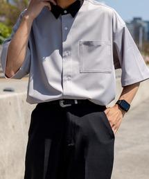 シャツ ブラウス 襟配色クレリックシャツ ZOZOTOWN PayPayモール店