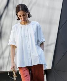 シャツ ブラウス サイドリボンフレアシャツ(ポンチョ風)|ZOZOTOWN PayPayモール店