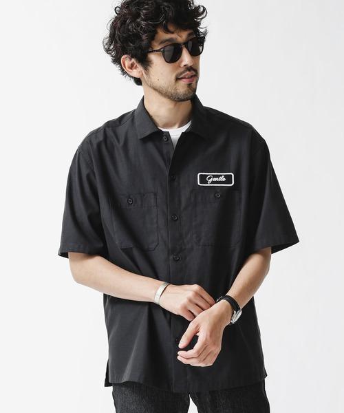 シャツ ブラウス AL完売しました。 お金を節約 カスタムワッペンワークシャツ