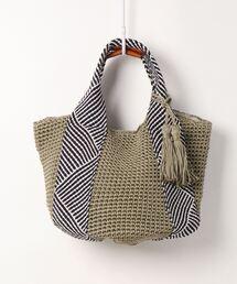 バッグ カゴバッグ カシュカシュ cachecache / コードメッシュハンドル手編みトートバッグ|ZOZOTOWN PayPayモール店