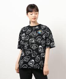 tシャツ Tシャツ 親子お揃い ディズニー モノクロ総柄Tシャツ 5001A ZOZOTOWN PayPayモール店