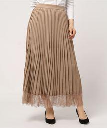 スカート トロピカル スカラップレースヘム プリーツスカート|ZOZOTOWN PayPayモール店