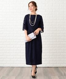 ドレス フレア袖×花柄総レースフォーマルワンピース・ドレス ZOZOTOWN PayPayモール店