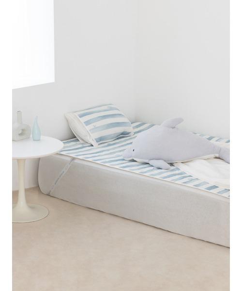 ベッド 売れ筋 寝具 完全送料無料 Sleep イルカボーダーCOOLパッド ダブル